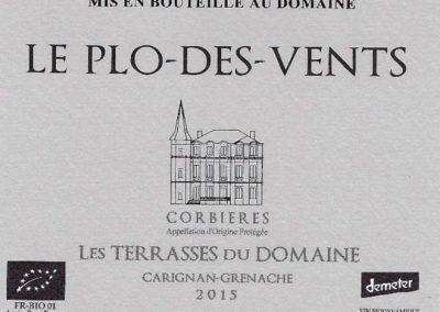 Les Terrasses du Domaine – Carignan Grenache – Plo des Vents