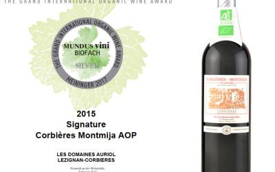De l'argent au concours des vins bio MUNDUS VINI BIOFACH 2017