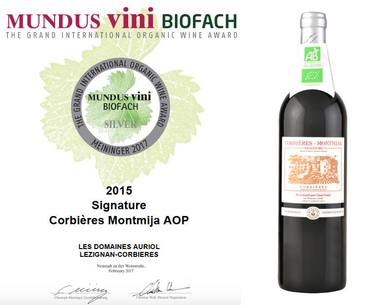 argent concours mundus vini vin bio biofach