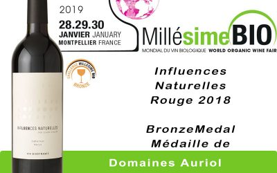 CHALLENGE MILLESIME BIO 2019 : TINA ROUGE EN OR ET INFLUENCES NATURELLES EN BRONZE
